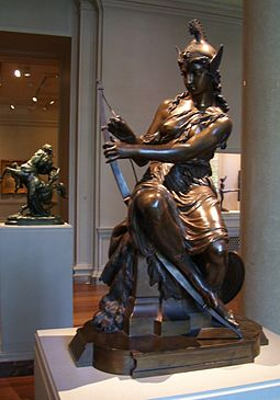 """Amazon preparing for a battle,'' by Pierre-Eugène-Emile Hébert, at the  National Gallery of Art ,  in  Washington, D.C."