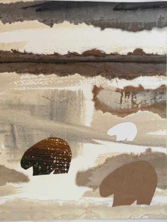 """""""Cave Bears,'' by C.C. White, at the Patricia Ladd Carega Gallery, Center Sandwich, N.H."""