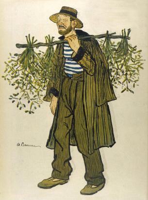 """""""The Mistletoe Seller,''by  Adrien Barrère"""