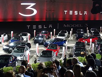 The  Tesla Model 3 first deliveries event took place on July 28, 2017.