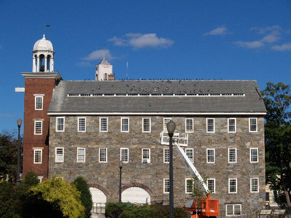 The Wilkinson Mill, one of the beautiful old factory buildings in Pawtucket.