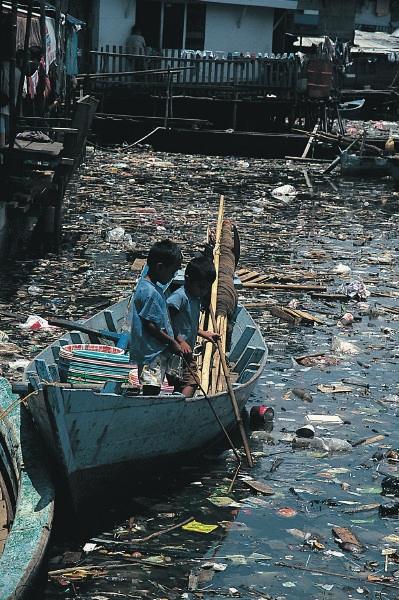 Marine plastic and other debris.