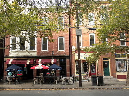 After some decades of steep decline, parts of New Haven have become much more prosperous, and, well, gentrified, in the past couple of decades, including this stretch of upper State Street.