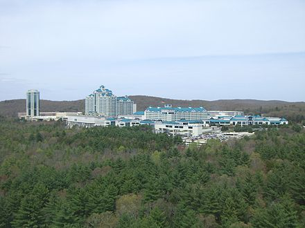 The Foxwoods casino complex (the world's largest), in Mashantucket, Conn.