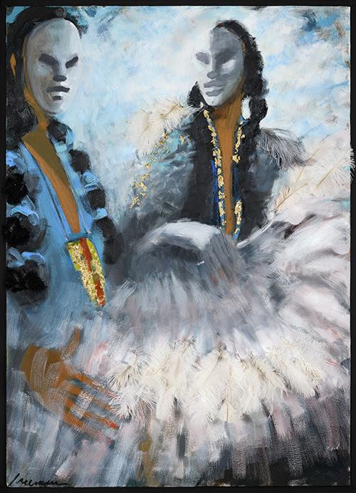 """Golden Pendant'' (painting), by Robert Freeman."