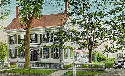 The Harriet Beecher Stowe House, in Brunswick, Maine. That's where she wrote  Uncle Tom's Cabin , in 1850-5 2.