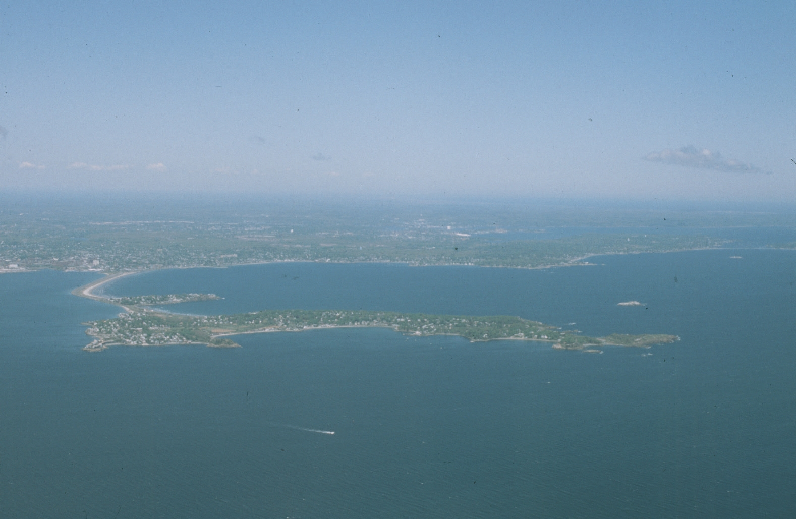 The near-island called Nahant -- very exposed to rising seas.   -- Photo by Svabo