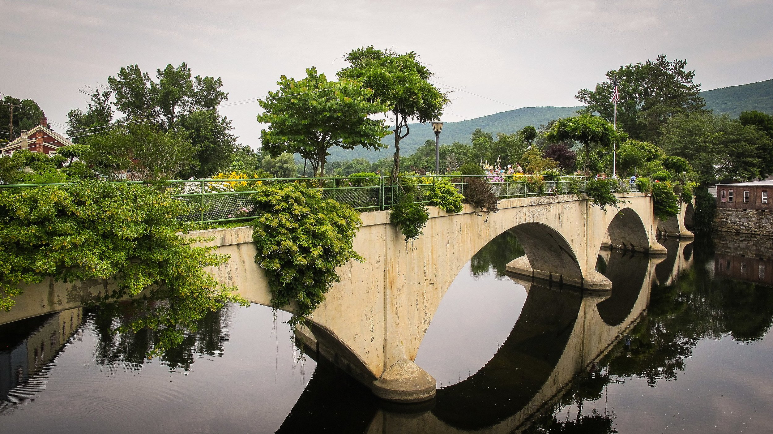 """The Bridge of Flowers,'' in Shelburne Falls, Mass.    -- Photo by FFM784"