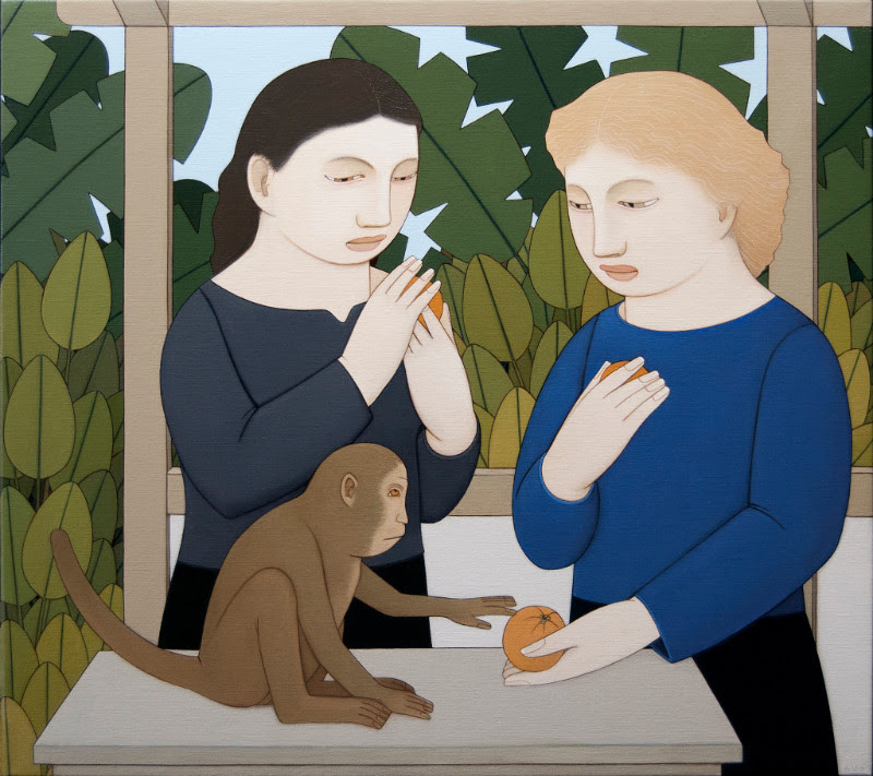 """From Andrew Stevovich's show """"Contemplating Figures,'' at Adelson Galleries, Boston, opening May 4."""