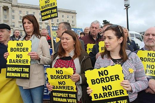 "Anti ""hard-border'' demonstration along the Ulster-Republic of Ireland border."