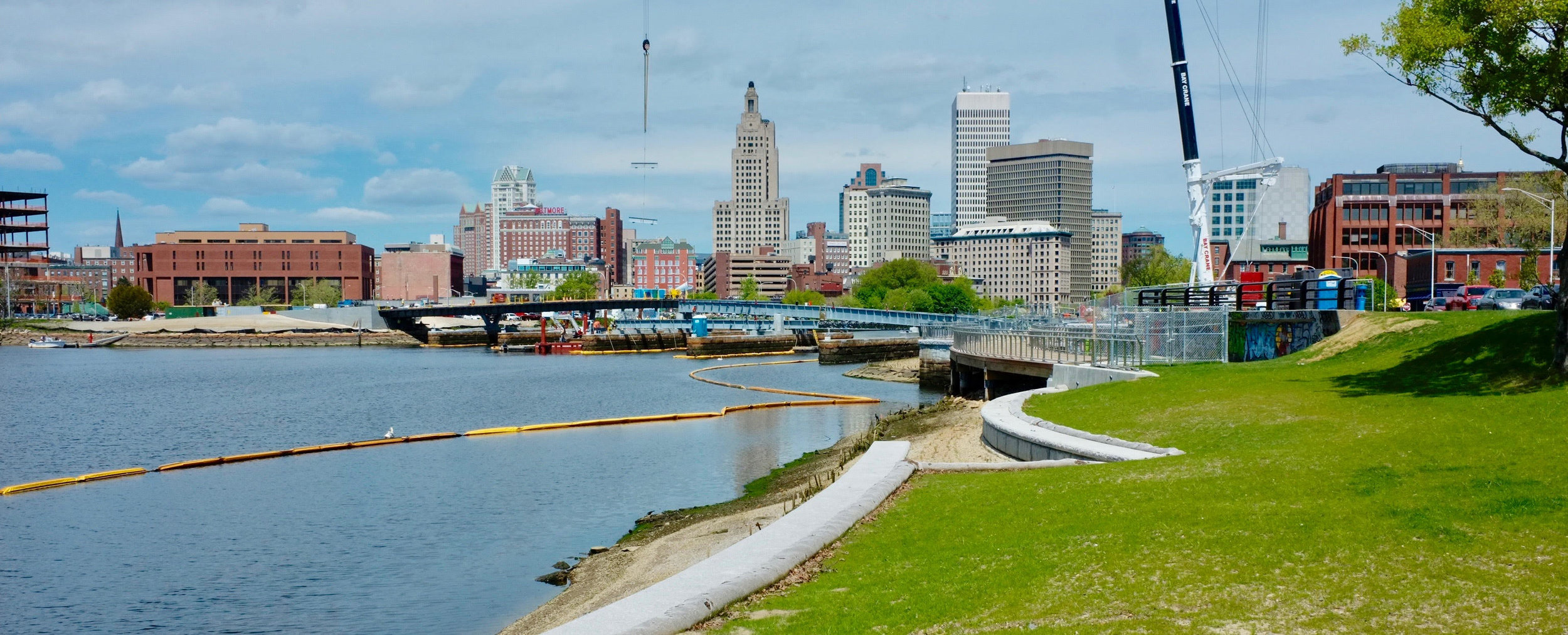 The Providence River where Interstate 195 used to cross.