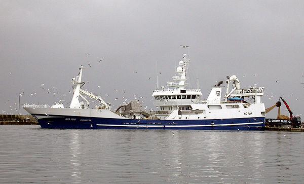 A large trawler.