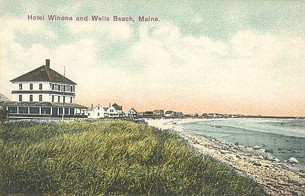 Wells Beach in 1908.