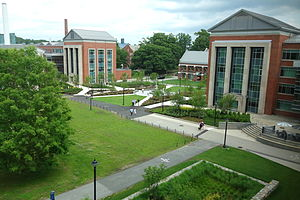 Main quad of the flagship campus, in Storrs, of the University of Connecticut.
