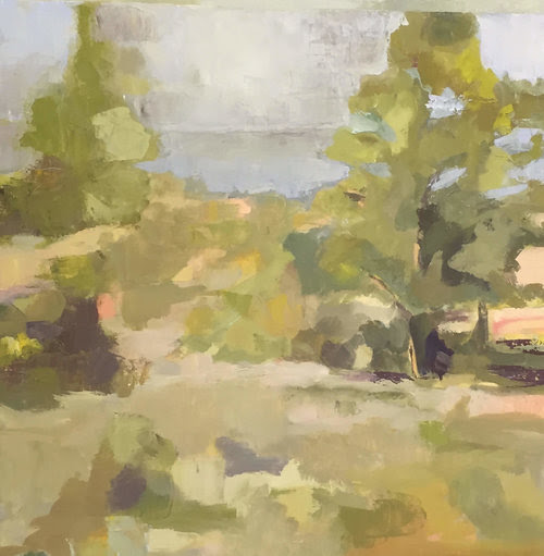 """""""Race Point'' (oil on canvas), by Kathleen Jacobs, in her show """"Paintings, Monotypes, Wellfleet, MA and Mayo Ireland,'' at Off Main Gallery, Wellfleet, Mass."""