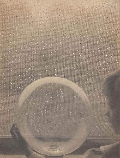 """""""Drops of Rain' (detail, platinum print), by Clarence H. White, in the show """"Clarence H. White and His World: The Art and Craft of Photography, 1895-1925,'' at the Portland Museum of Art.    The exhibition is the first in over 40 years to examine the work of    White   (1871⎻1925), a gifted photographer and founding member of the Photo⎻Secession. It aims to examine the scope of his artistic career, from its beginnings, in Newark, Ohio, to its end, in Mexico"""
