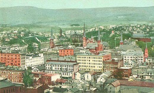North Adams in 1905, during its industrial heyday.
