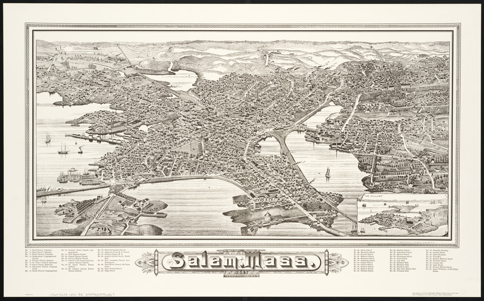 Salem in 1883, by which time it had become a major industrial town as well as port.   -- Mason, Boston Public Library