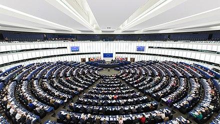 The European Parliament, in Strasbourg, France.