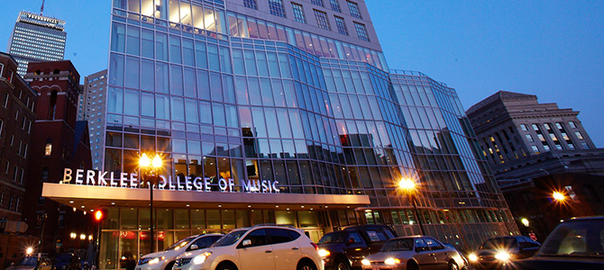 Berklee College of Music,  in Boston. It's the largest independent college of contemporary music in the world.