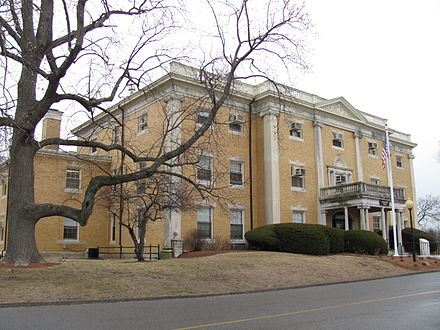 The administration building at McLean Hospital, in Belmont, Mass. It's New England's most famous mental hospital.