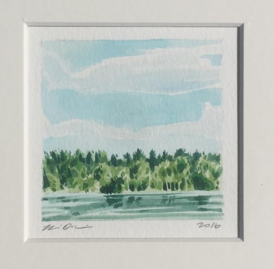 """""""Heat Wave""""(watercolor on paper), by Brian Herrick, at the Patricia Ladd Carega Gallery, Center Sandwich, N.H."""