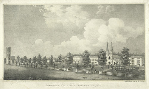 Bowdoin College about 1845.