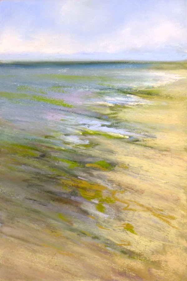 """Beach Combing Zone'' (pastel), by Rachel Avenia, at Bobby Baker Fine Art, Cataumet (on Cape Cod) Mass."