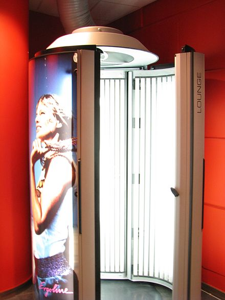 A tanning booth.