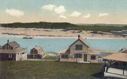 View of Ipswich dunes, circa 1920.
