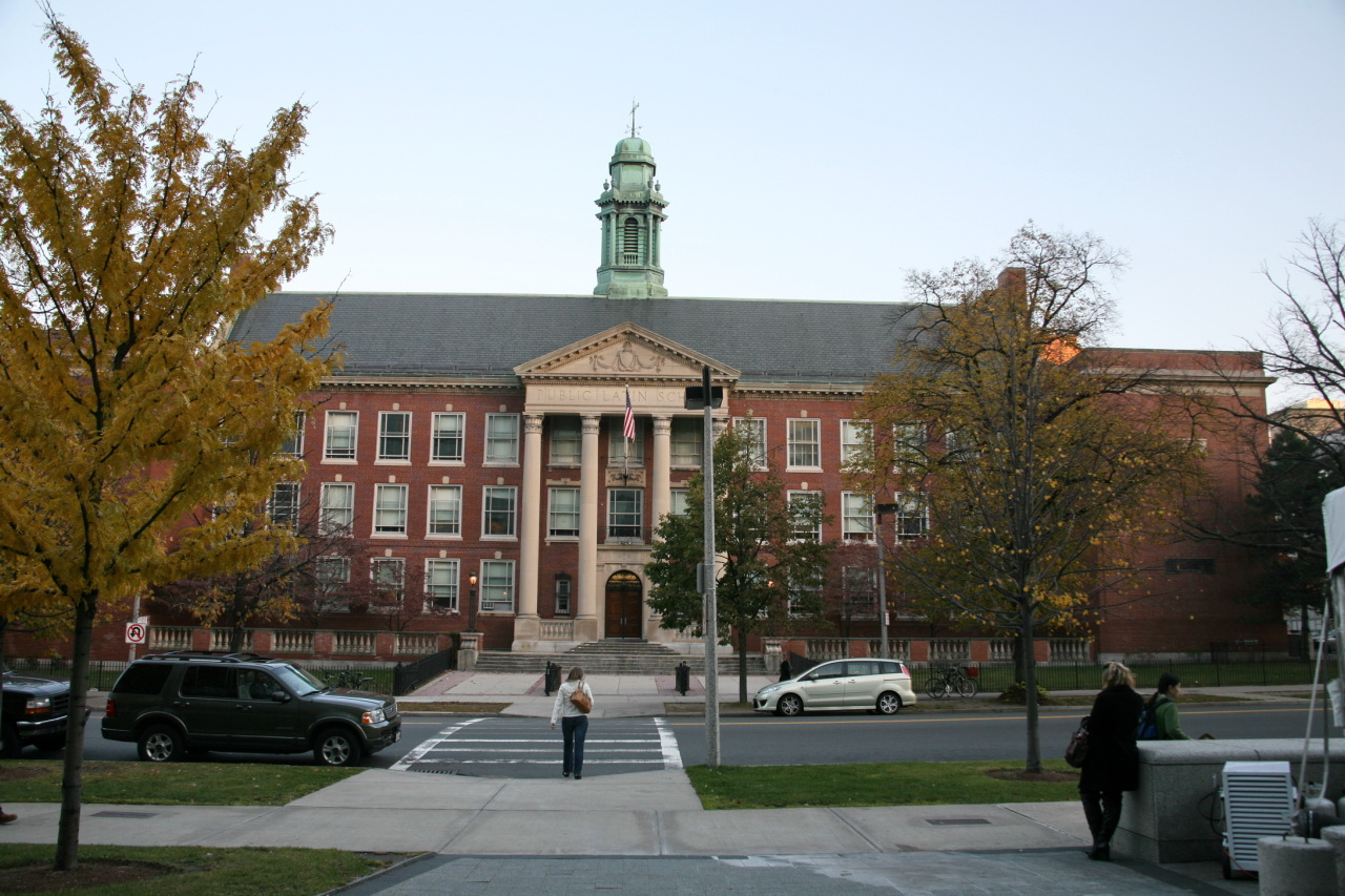 The Boston Latin School, founded in 1635 and the oldest public school in America.