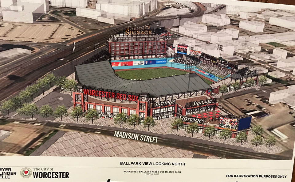 Proposed stadium for the Worcester Red Sox.