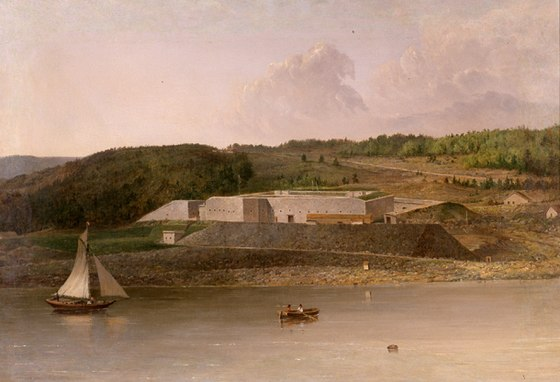 Fort Knox,painting by  Seth Eastman done sometime between 1870 and 1875.