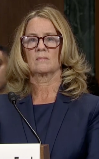 Christine Blasey Ford in her appearance before the Senate Judiciary Committee.