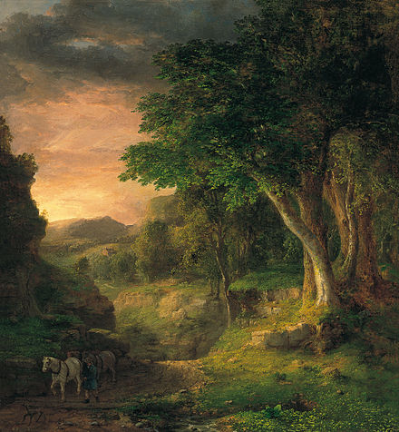 """""""In the Berkshires,'' painted by George Inness in 1850."""
