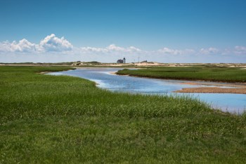 Hatches Harbor marshes on Cape Cod Bay.