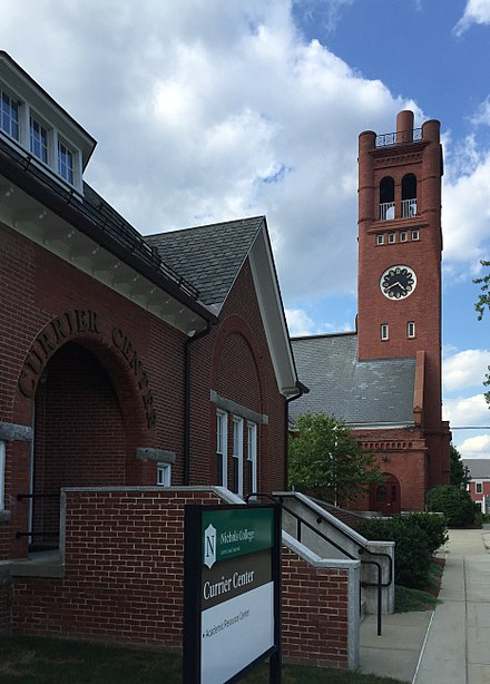 Nichols College, in Dudley, Mass., with about 1,500 students. The author served as provost there.