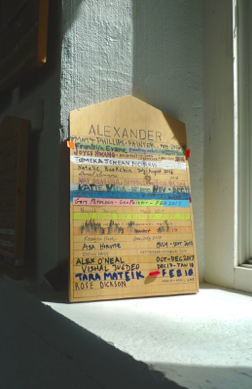A tombstone in Alexander studio.
