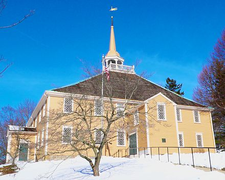 The    Old Ship Church    (1681), in Hingham, Mass., the only surviving 17th-Century Puritan meeting house in the U.S., and the oldest church building in continuous ecclesiastical use in the nation