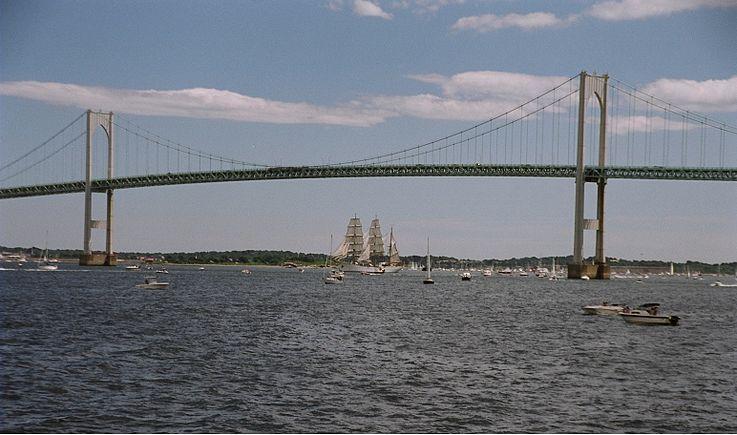 The Pell Bridge, named for Claiborne Pell, the longtime U.S. senator and Newport resident.
