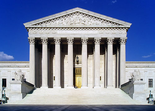 The U.S. Supreme Court Building, erected in 1932-35.