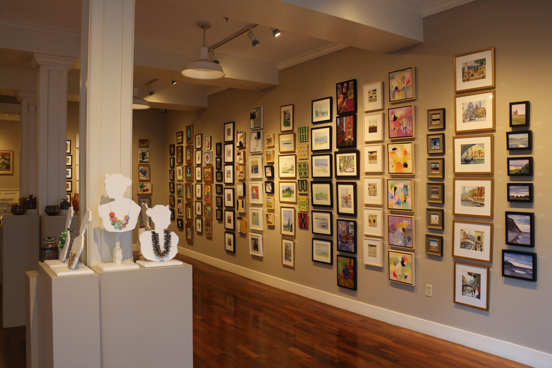"""Part of the huge annual """"LIttle Pictures Show'' at the Providence Art Club."""