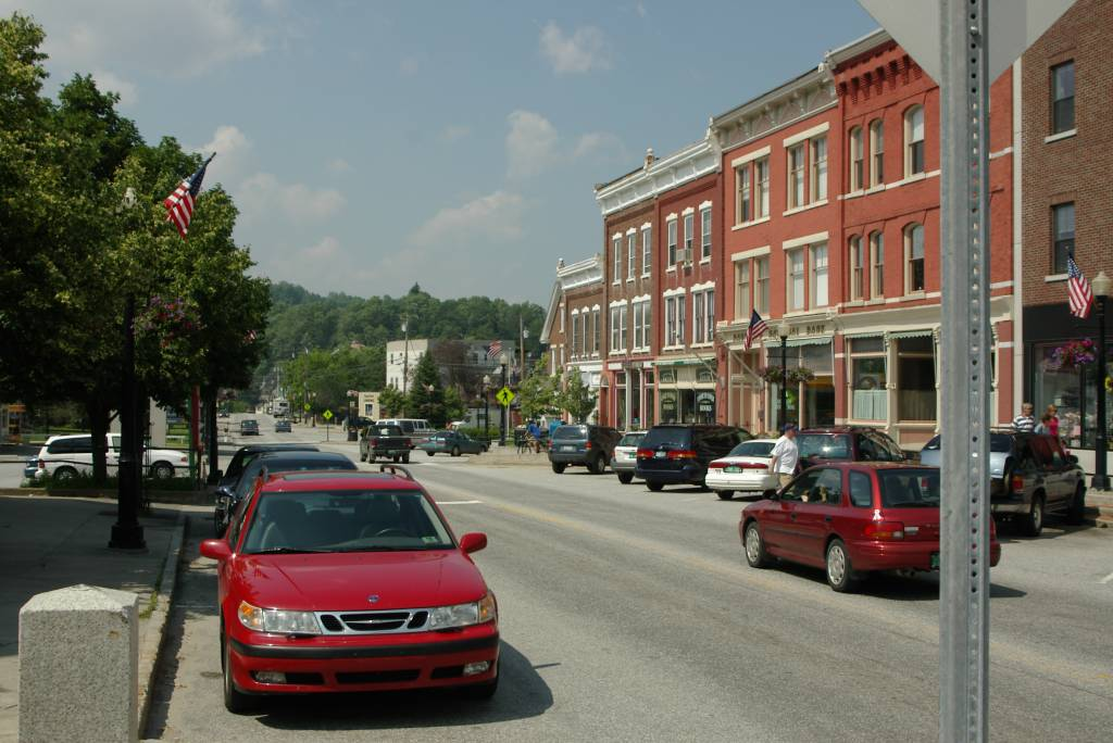 Downtown Randolph, Vt.    Photo by M.S.Maguire Copyright: ©2006 M.S.Maguire