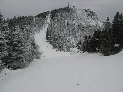 Ski trail in Stowe, Vt.