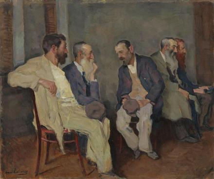 """""""The Conversation"""" (1935), by Arnold Lakhovsky."""