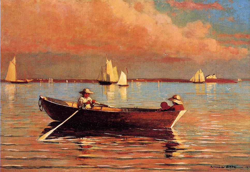 """Gloucester Harbor' (1873) (oil on canvas), by Winslow Homer."