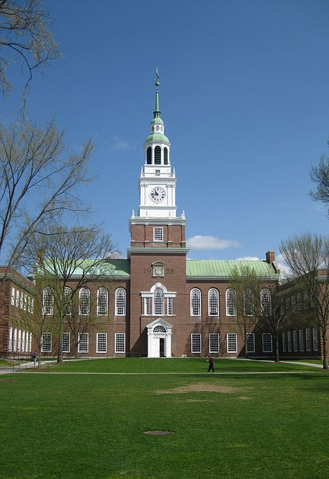 Baker Library, at Dartmouth College.