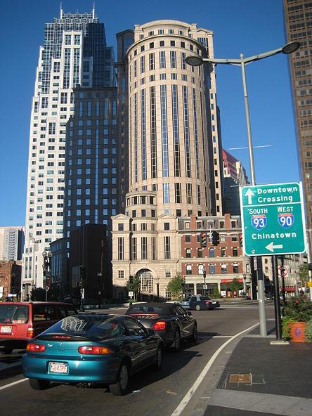 In Boston's Financial District.