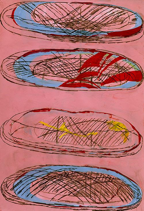 """Untitled gouache on paper by Terry Winters (image courtesy of The Drawing Center, New York) in his show """"Facts and Fictions,'' at the University Museum of Contemporary Art at the University of Massachusetts at Amherst through April 28."""