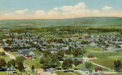 Greenfield, Mass., from Poet's Seat Tower, 1917.